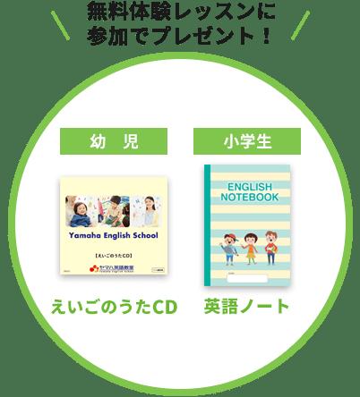ヤマハ英語教室春の新入会受付中プレゼント2